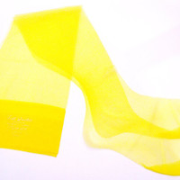 Bright Yellow Vintage Women's Thigh HIghs