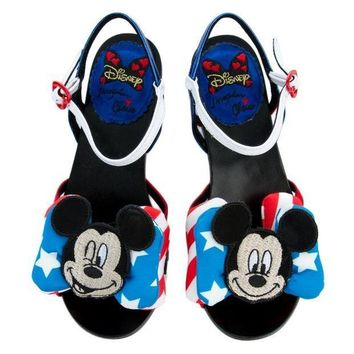 ESBI7E Irregular Choice Mickey Mouse & Friends Collection Women's Oh Toodles Sandals