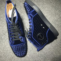 Cl Christian Louboutin Louis Spikes Style #1845 Sneakers Fashion Shoes - Best Deal Online