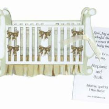 BABY SHOWER INVITATIONS, BABY CRIB, STEVIE STRECK