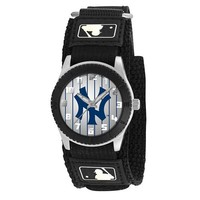 Game Time Mid-Size MLB-ROB-NY3 Rookie Ny Yankees Pinstripe Rookie Black Series Watch