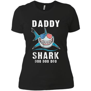 Daddy Shark T Shirt for Fathers Day Gift from Son Daughter