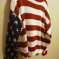 Vintage American Flag Sweater