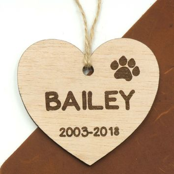 Custom Personalized Pet Memorial Dog Ornament Pets Loss Memory Keepsake