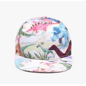 Dinosaurs - 3-D Cute, Graphic, Cool Baseball Cap - Sports & Leisure Hat