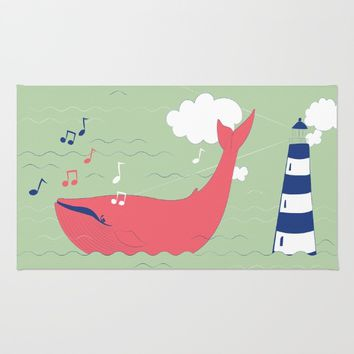 The Singing Whale Rug by Texnotropio