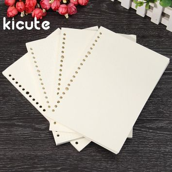 Kicute A5 Inner Paper Page For Binder Paper Insert Matching Filofax Diary Refills Spiral Notebook Replace Color Core Loose Leaf