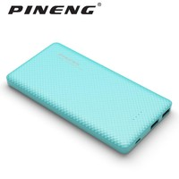 PINENG 10000mah Power Bank PN-958 Portable Battery Mobile Li-Polymer Ultra-thin Dual USB For Samsung S7 iPhone7 PN958 Powerbank