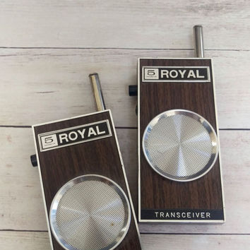 Walkie Talkies/ Vintage Transceivers/ Working Walkie Talkies/ Vintage Walkie Talkies/ Royal Transceiver/ Transistor Radios/ Fathers Day Gift