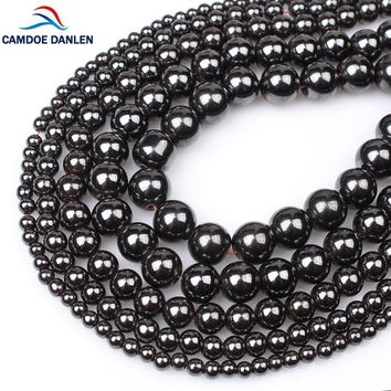 Natural Stone Black Hematite Magnetic Beads Round 4/6/8/10/12MM Diy Charm Bracelet Necklace Loose Beads For Jewelry Making