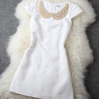 Elegant shining embroidered nice dress