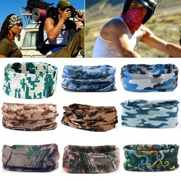 9 Style Camouflage Hiking Scarf Head Bandana Face Mask Neck Snood For Outdoor Camping Cycling Camo Tube Magic Seamless Scarf