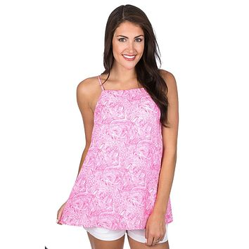 Emmie Tank in Ruffle Some Feathers by Lauren James - FINAL SALE