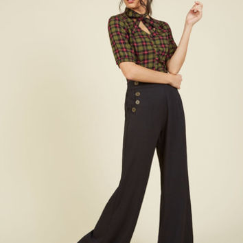 Every Opportunity Pants in Black   Mod Retro Vintage Jackets   ModCloth.com