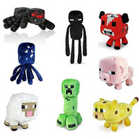 "Super cute 7"" Assorted Plush for Minecraft Lovers(set of 8)"