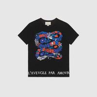 Gucci Floral print cotton t-shirt