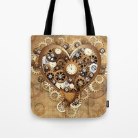 BluedarkArt • SOLD! Thank You! <3 #Steampunk #Heart #Love #Tote...