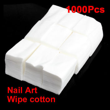 1000 Wipe Cotton Wipes For Nail Art Makeup Polish Acrylic Gel Tips Remover white