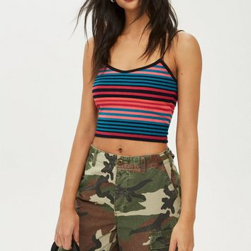 Fluro Stripe Camisole Top - New In Fashion - New In