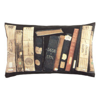 Books Canvas Cushion Cover