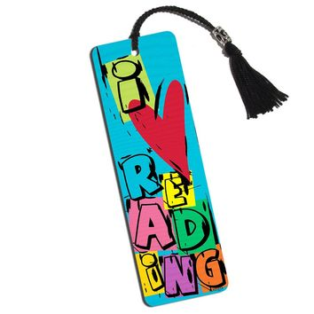 Colorful I Love Reading Printed Bookmark