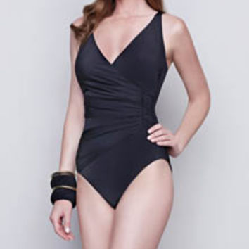 Gottex 15DW178 Dream Weaver V-Neck One Piece Swimsuit