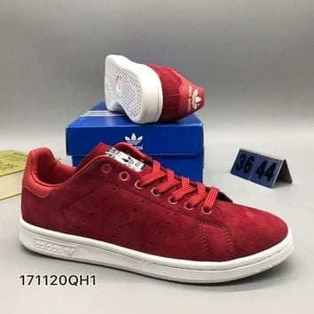 Adidas Smith men and women fashion casual shoes F-CSXY Red