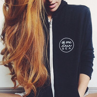 Charcoal Tri-blend Unisex Lightweight Zip-Up Hoodie