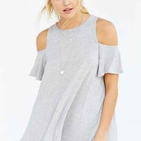 Kimchi Blue Angel Wings Cold-Shoulder Tee