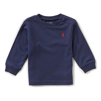 Ralph Lauren Childrenswear Baby Boys 3-24 Months Long-Sleeve Tee | Dillards