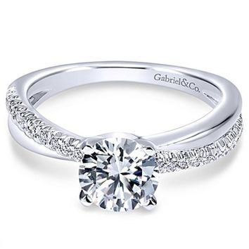 "Gabriel ""Morgan"" Bypass Twist Diamond Engagement Ring"