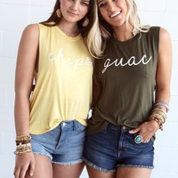 Chips Graphic Tank - Yellow