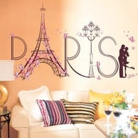 Paris Vinilos Paredes Wall sticker for living room wall decal vinyl wallpaper home decoration adesivo de parede Free shipping