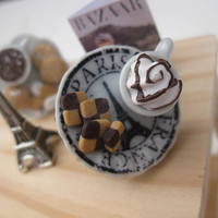 From Paris with Love Ring - 1/12 Scale Miniature Food