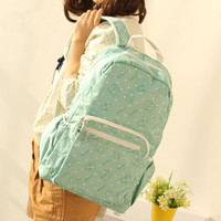 Pretty Dot Mint Green School Backpack