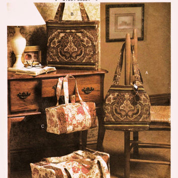 Vogue Pattern V7919 Diva Duffle Bags & Totes in 2 Sizes Uncut FF Customize Your Travel Accessories Sewing Craft Supplies Patterns