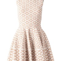 Alexander McQueen embossed flower jacquard dress