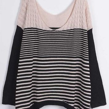 Cupshe Striping Young Woman Twist Sweater