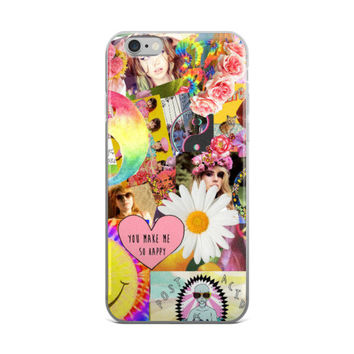 Girls Life Collage Daisy Hearts Smiley Face Flower Crown Roses Cute Girly Girls Girl Code Pink iPhone 4 4s 5 5s 5C 6 6s 6 Plus 6s Plus 7 & 7 Plus Case