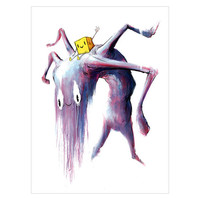 PURPLE LAZYFACE 8x10 PRINT BY ALEX PARDEE : ZeroFriends.com