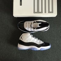 "Air Jordan 11 ""Concord"" AJ11 NUM ""45"" Men Basketball Shoes Sneaker"