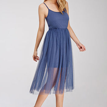 Tulle Overlay Cami Dress