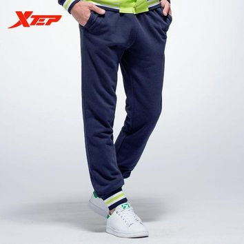 DCCKHN1 XTEP Mens Running Sports Pant 2016 Winter Gym Fitness Trousers Mallas Hombre Elastic Cross Jogging Pants Sweatpants 884329359040