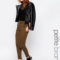 New Look Petite Belted Tapered Trouser
