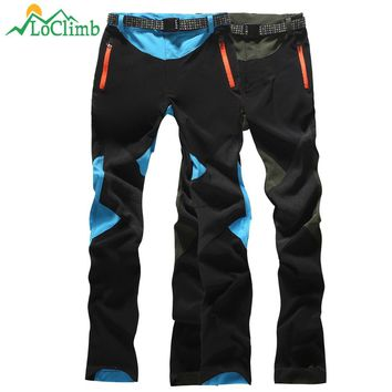 LoClimb Thin And Thick Camping Hiking Pants Women Sport Quick Dry Trousers Outdoor Climbing Trekking Ski Waterproof Pants AW190