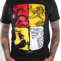 Game Of Thrones T-Shirt - Houses