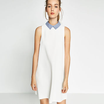 POPLIN COLLAR DRESS - Collection-TRF-NEW IN | ZARA United States