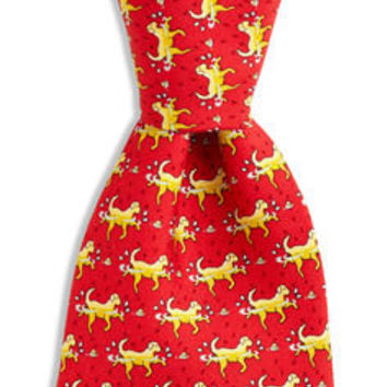 Men's Ties: Golden Retriever Printed Silk Tie for Men – Vineyard Vines