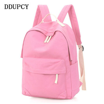 DDUPCY 2017 Hot Sale Style Bookbags Womens Backpack Travel Bags Student School Bag Girl Backpacks Casual Travel Rucksack