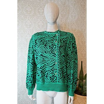 Vintage Artsy  Abstract Statement Sweater
